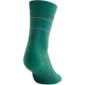 cep Reflective Mid Cut Socks Women green